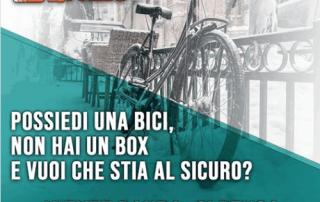 Bicicletta nel al sicuro nel box